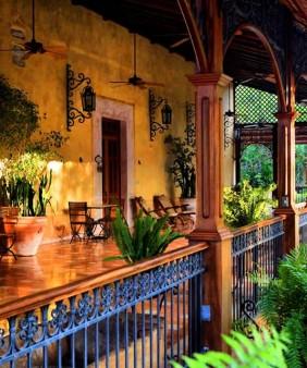 Xcanatún, terraza casa principal