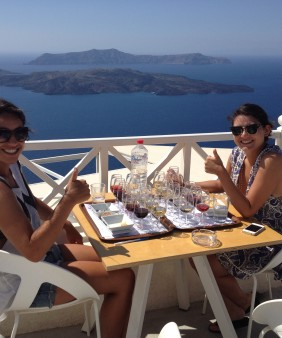 Santorini sightseeing tour & wine tasting