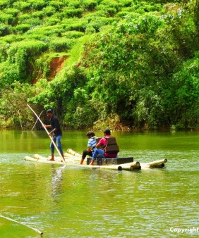 Bamboo river rafting in Wayanad